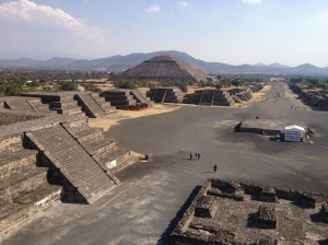 The vast expanse of Teotihuacan
