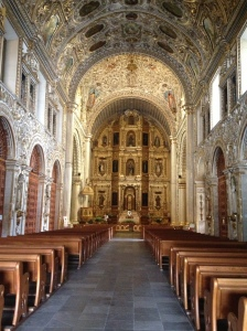 Inside the gorgeous Templo de Santo Domingo
