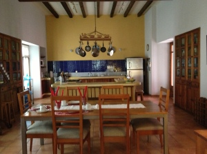 The kitchen at Casa de los Milagros