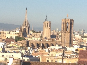 City view from the 360 bar at Barcelo Raval
